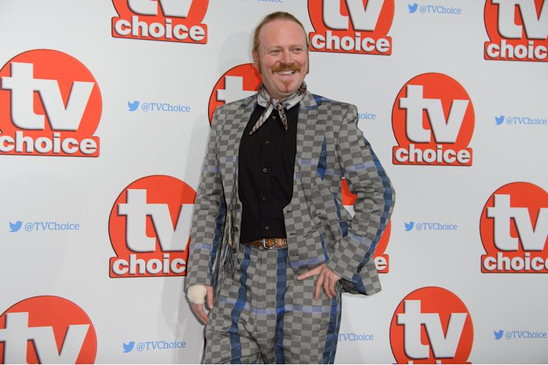 Keith Lemon poses for photographers at the TV Choice Awards 2015 at a central London venue, London, Monday, Sept. 7, 2015. (Photo by Jonathan Short/Invision/AP)