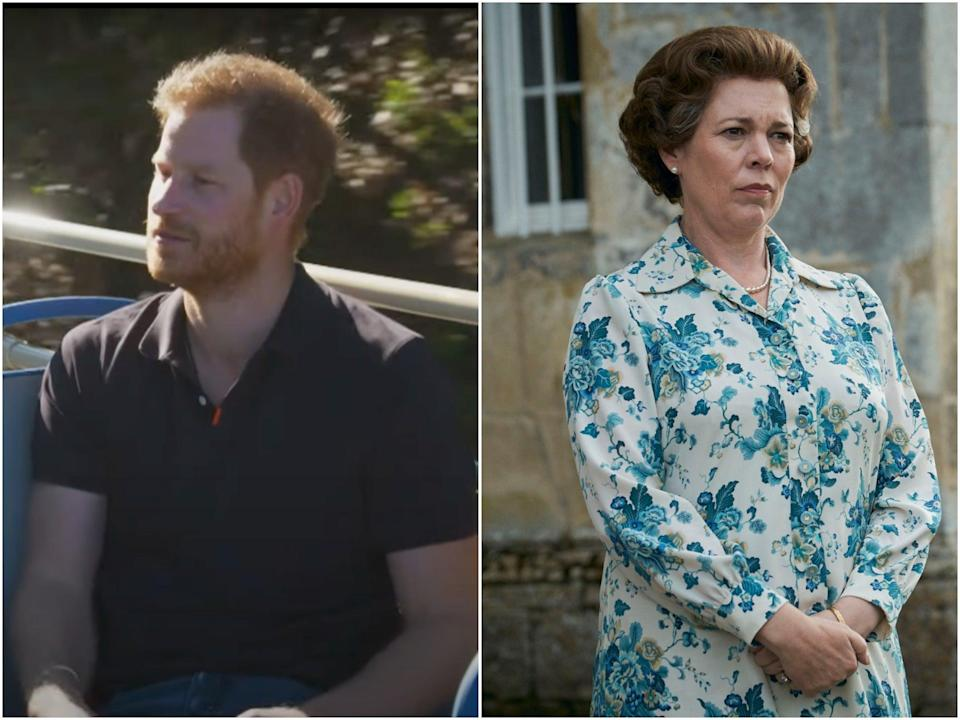 Prince Harry shared his thoughts on The Crown (CBS/Netflix)