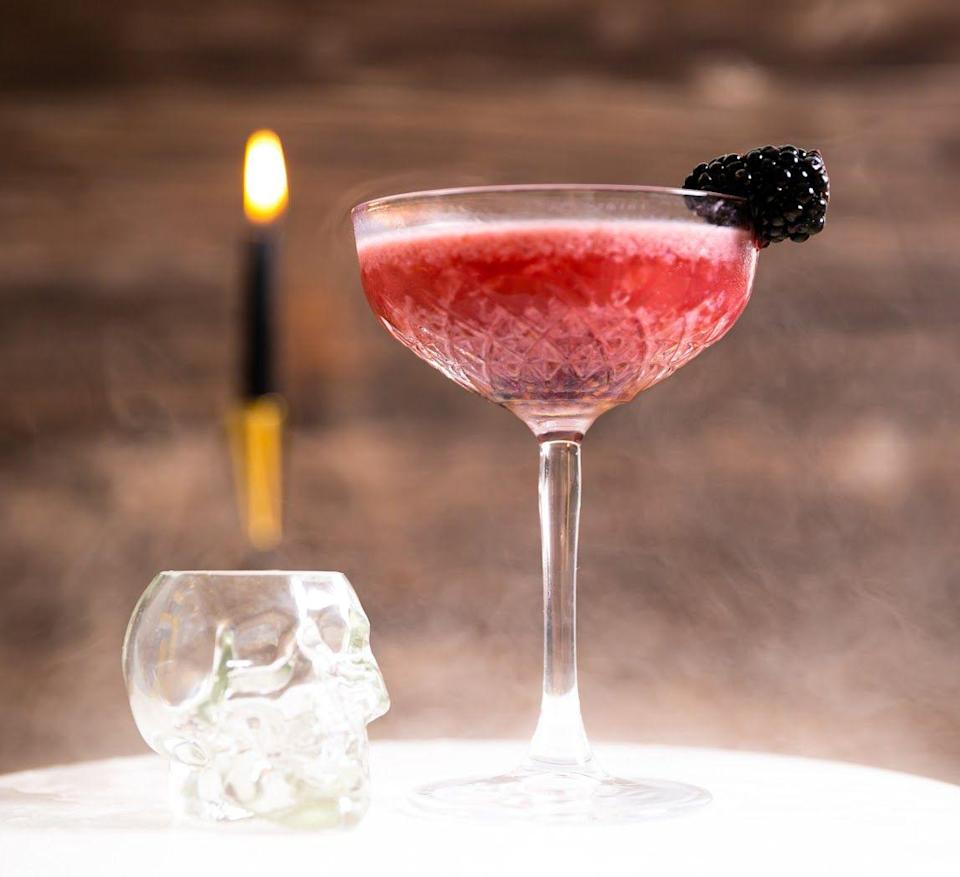<p><strong>Ingredients</strong></p><p>2 oz Monkey 47 Gin<br>1 oz oat milk<br>.75 oz honey syrup (equal parts honey and water)<br>3 blackberries</p><p><strong>Instructions</strong></p><p>Muddle 3 blackberries in the bottom your shaking tin and then add Monkey 47 Gin, oat milk, and honey syrup into the shaker. Fill completely with ice, seal your shaker, and shake for 7-10 seconds. Fine strain into a coupe glass and garnish with a skewered blackberry and expressed lemon oil.</p>