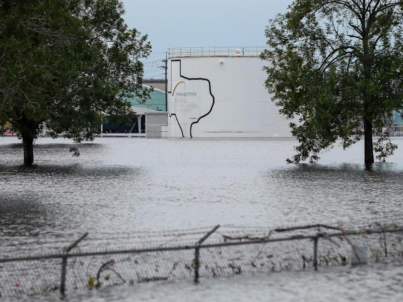 The plant was shut down some time before Harvey made landfall on the Texas coast (AP)