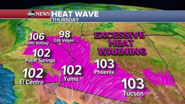 PHOTO: In the Southwest, more records were tied or broken in the amidst the heat wave. (ABC News)
