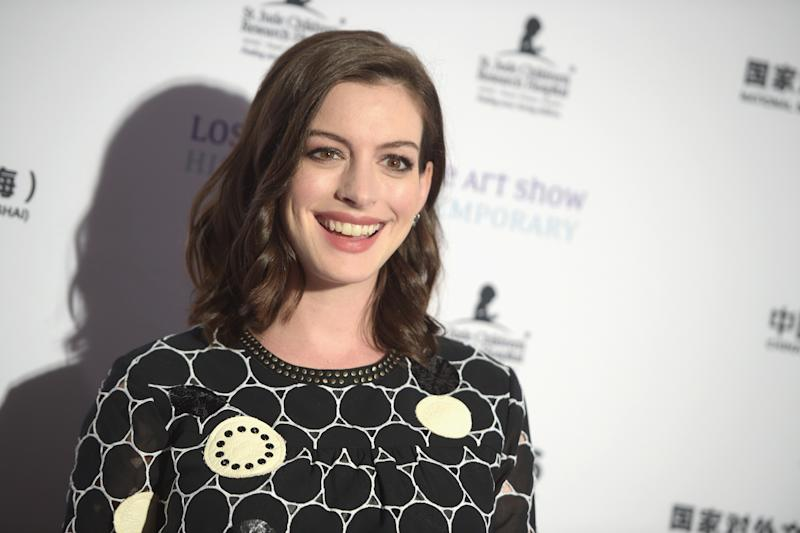 """Anne Hathaway opened up about her fertility struggles, which left her """"full of self-doubt"""". [Photo: Getty]"""