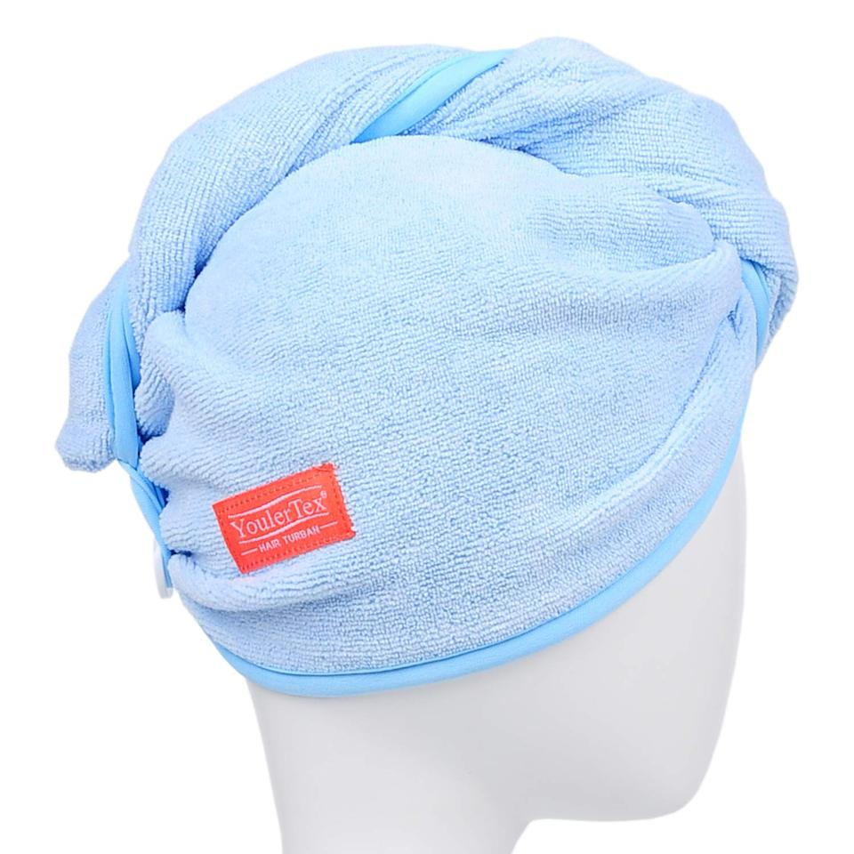 """<h3>YoulerTex Microfiber Hair Wrap Towel </h3><br><strong>Casey</strong><br><br>""""I really wanted that <a href=""""https://www.sephora.com/product/lisse-luxe-hair-turban-P410897"""" rel=""""nofollow noopener"""" target=""""_blank"""" data-ylk=""""slk:fancy Aquis hair towel"""" class=""""link rapid-noclick-resp"""">fancy Aquis hair towel</a> that everyone is always raving about...but that thing costs $30 which is more than I paid for my entire bundle of body towels, so no. That's how I ended up on Amazon where this pretty much spot-on dupe fell into my cart. Not only is it a steal at $11 compared to the aforementioned hair wrap but it's a two-pack, too (just over $5 a towel)! Anyhoo, I ordered it and am now obsessed with it. It seriously cuts down on my hair's drying time post showering, makes me feel like I'm causing a lot less damage than when I was wrapping my wet strands up in harsher body towels, and my hair looks way less frizzy and noticeably smoother once it's dry. And, the best part? One of my fancy Aquis-towel-owning friends actually mistook this one for it while we were on a Zoom call. Success.""""<br><br><strong>YoulerTex</strong> Microfiber Hair Towel Wrap, 2 Pack, $, available at <a href=""""https://amzn.to/2XtWS3S"""" rel=""""nofollow noopener"""" target=""""_blank"""" data-ylk=""""slk:Amazon"""" class=""""link rapid-noclick-resp"""">Amazon</a>"""