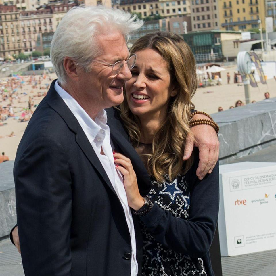 """<p><strong>Age gap: </strong>33 years </p><p>Despite the three-decade gap between these two, they're """"extraordinarily happy"""" together, a source tells <a href=""""http://people.com/movies/richard-gere-marries-spanish-girlfriend-alejandra-silva-theyre-extraordinarily-happy/"""" rel=""""nofollow noopener"""" target=""""_blank"""" data-ylk=""""slk:People"""" class=""""link rapid-noclick-resp"""">People</a>. The couple got married in April.</p>"""