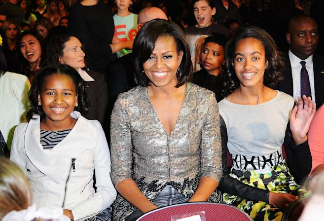 Sasha and Malia's mom MIchelle Obama came in fifth. (Photo: Getty)