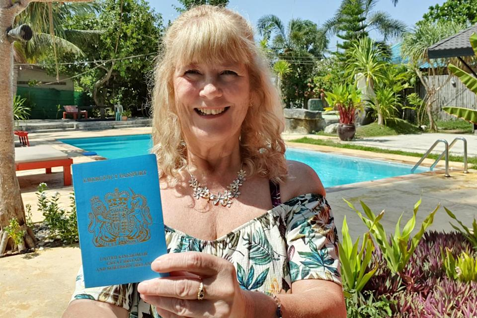 Emergency call: the replacement passport that allowed Tina Sibley to travel to Thailand: Tina Sibley
