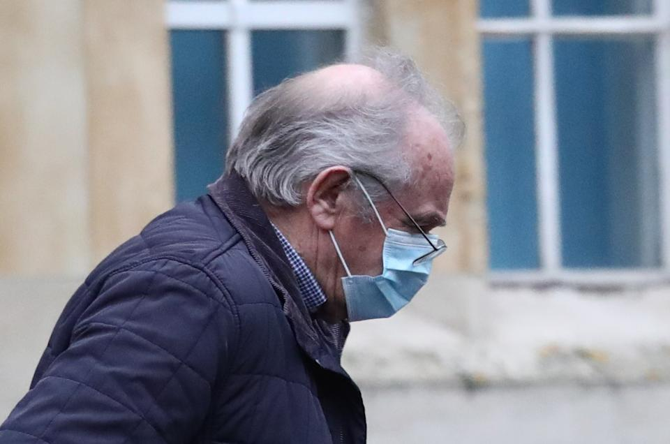 Colin Naylor arrives at Snaresbrook Crown Court in London accused of causing the electrocution of seven-year-old Harvey Tyrrell who died at the King Harold Pub in Harold Wood, Romford, Essex, on September 11, 2018. Picture date: Wednesday January 20, 2021.