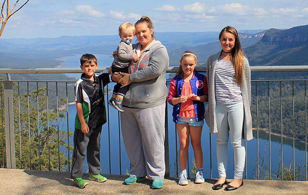 Judith Pallanz lost 70kg and educated herself on health to be a role model for her children. Source: Caters