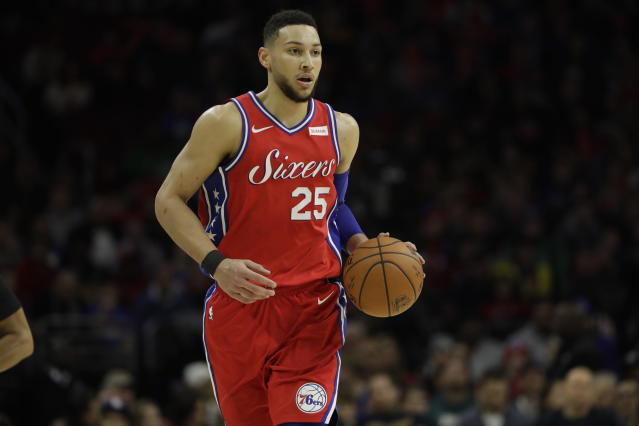 "<a class=""link rapid-noclick-resp"" href=""/nba/players/5600/"" data-ylk=""slk:Ben Simmons"">Ben Simmons</a> has the 76ers finally playing respectable ball. (AP Photo)"
