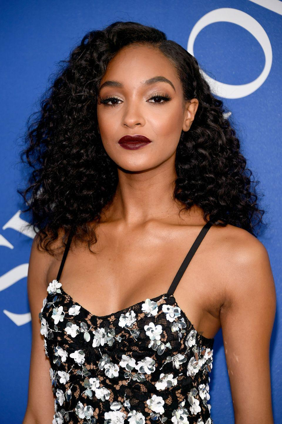 """<p>Ensure your curls look healthy like Jourdan Dunn's by using curl-defining products such as Color Wow's <a href=""""https://www.colorwowhair.com/uk/dream-coat-curly.html"""" rel=""""nofollow noopener"""" target=""""_blank"""" data-ylk=""""slk:Dream Coat for Curly Hair"""" class=""""link rapid-noclick-resp"""">Dream Coat for Curly Hair</a>, £24.</p>"""