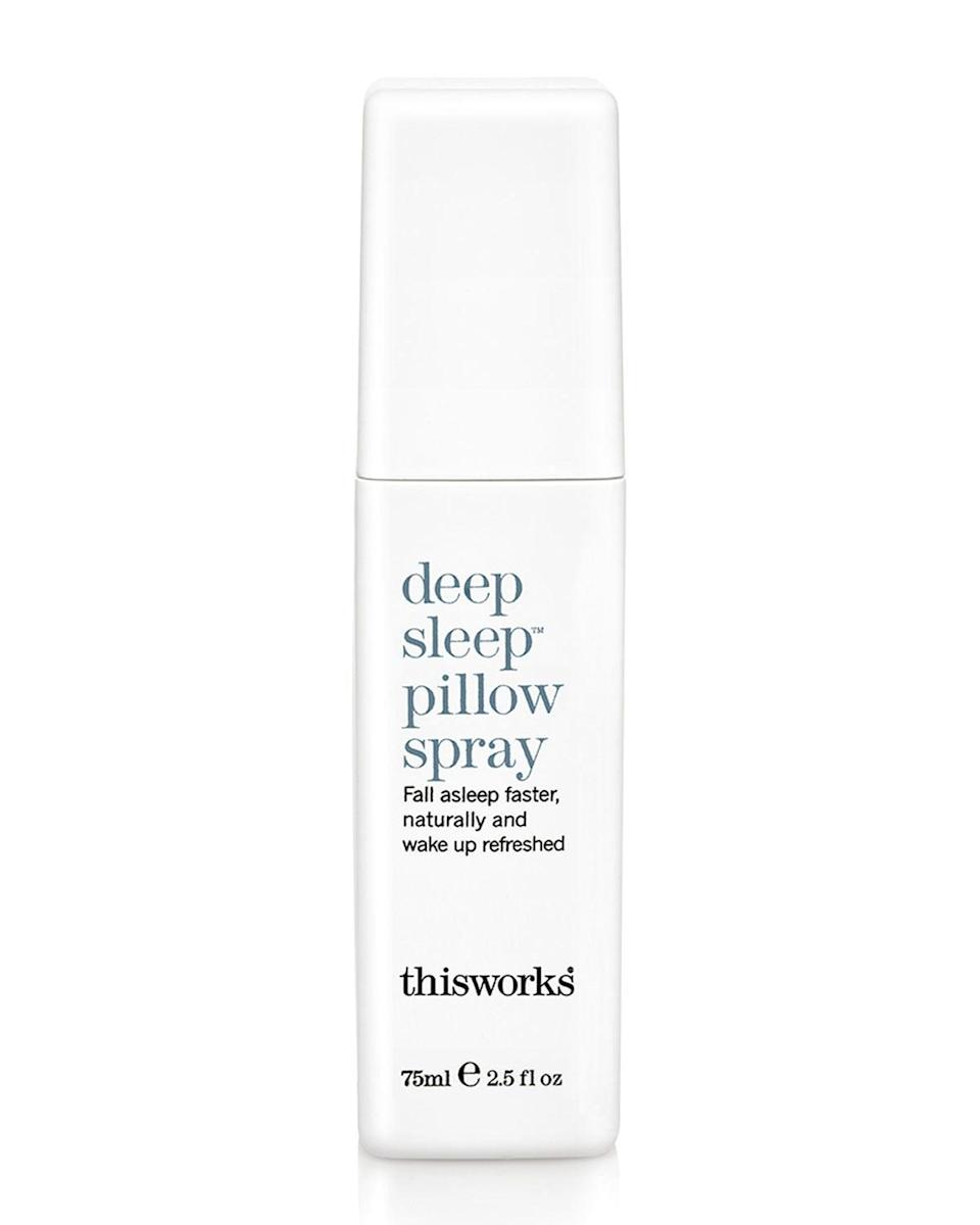 <p>Spritz the calming lavender scent of the <span>This Works Deep Sleep Pillow Spray</span> ($29) to fall asleep faster and feel more refreshed in the morning.</p>