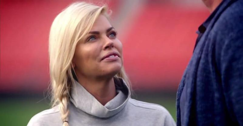 Even just looking up at Jarrod terrifies her. Source: Channel 10
