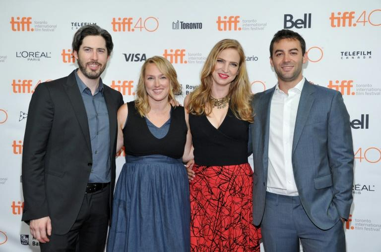 "(L-R) Director Jason Reitman, producers Liz Tigelaar, Helen Estabrook and Zander Lehmann attend the ""Casual"" premiere during the 2015 Toronto International Film Festival on September 16, 2015"