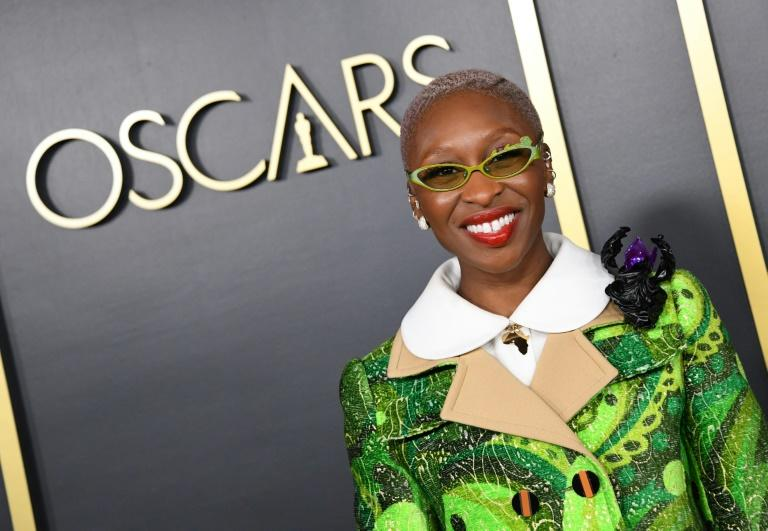 "British actress Cynthia Erivo is the only Oscar-nominated actress of color, for anti-slavery biopic ""Harriet"""