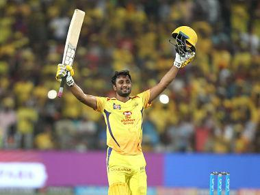 For someone who was touted to be the next big thing in Indian cricket circuit, Ambati Rayudu has had an underwhelming career so far. However, the stars seem to be finally aligning for him. On Sunday, in the eleventh edition of the Indian Premier League (IPL), he scored his first-ever Twenty20 hundred to guide the Chennai Super Kings into the playoffs. The 32-year-old began his first-class career at the age of 16, was called up for India 'A' side the following year and captained the U-19 side at the ICC World Cup in 2004. With India making it to the semi-finals in the 2004 U-19 World Cup, Rayudu's ascension into the senior team was just a matter of time. Ambati Rayudu of the Chennai Superkings celebrates his century. SPORTZPICS for BCCI However, it took Rayudu nine more years to make his ODI debut in the national colours, where he scored an unbeaten half-century against Zimbabwe to become the oldest Indian debutant to score a fifty. A stint at the 'rebel' Indian Cricket League (ICL) did his reputation no good and it was the IPL that brought him back into the reckoning after a string of all-round performances for his first franchise, Mumbai Indians. Doubling up as a wicketkeeper for the Mumbai Indians since 2010, Rayudu had an impressive first season that saw him score 356 runs at a strike rate of 144.71. He continued his good form with the bat and gloves as he scored more than 300 runs in 2011 and 2012. Not to forget, Rayudu won the IPL title with Mumbai in 2013. After strong domestic performances in the Ranji Trophy, he was named in India's ODI squad to Zimbabwe. Rayudu was included in the squad when India toured Australia, West Indies, South Africa and New Zealand in the next couple of years, but didn't get to play many matches on tour. Rayudu's cameos in the Asia Cup 2014 was negated by his poor run with the bat in the subsequent tour of Bangladesh. His maiden ODI century came against West Indies at Ahmedabad. Eleven years after captaining the U-19 side, Rayudu wa