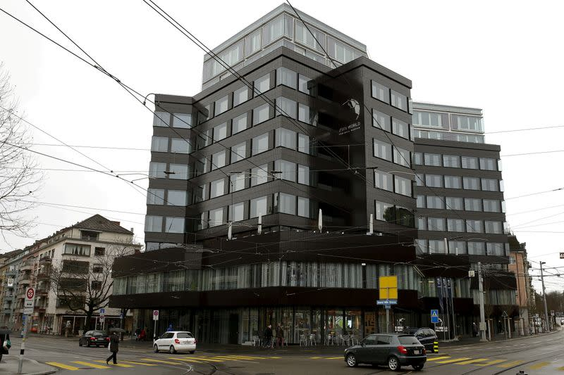 FILE PHOTO: A general view shows the future FIFA World Football Museum in Zurich