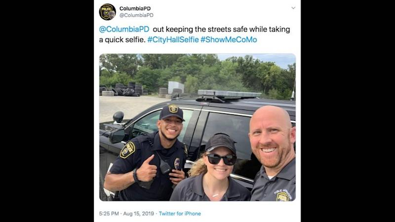 Smiling cops take selfie near where dead baby was just found. Missouri city apologizes