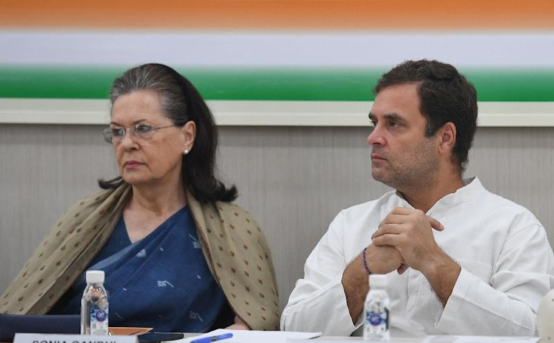 Congress party barons at the meeting, including Rahul Gandhi's mother Sonia, reportedly urged him to continue