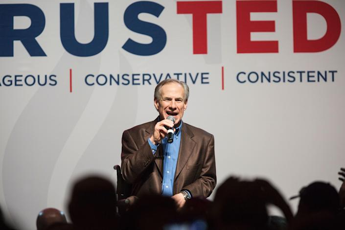<p>File Image: Texas Governor Greg Abbott on Tuesday announced the decision to life pandemic related mask-wearing mandate </p> (AFP via Getty Images)