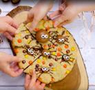 """<p>If you don't want to buy lots of different kinds of chocolates to top this giant cookie, just use your favourite one.</p><p><strong>Recipe: <a href=""""https://www.goodhousekeeping.com/uk/food/recipes/a572335/spider-cookie/"""" rel=""""nofollow noopener"""" target=""""_blank"""" data-ylk=""""slk:Giant Halloween spider cookie"""" class=""""link rapid-noclick-resp"""">Giant Halloween spider cookie</a></strong></p>"""