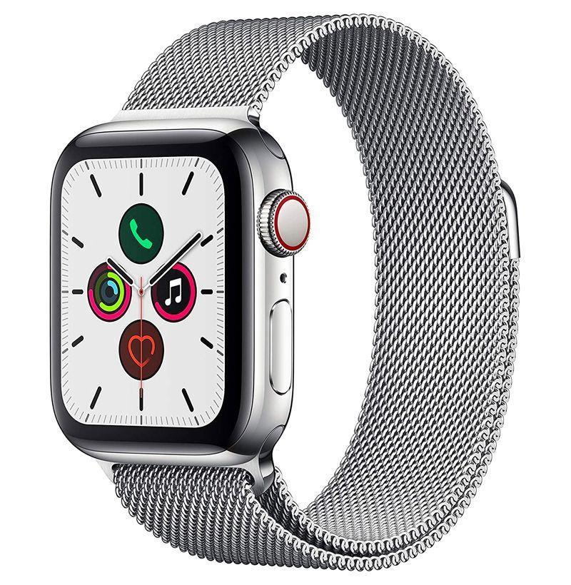 """<p><strong>Apple</strong></p><p>amazon</p><p><strong>$459.00</strong></p><p><a href=""""https://www.amazon.com/Apple-Watch-GPS-Cellular-40mm/dp/B07XR5K7TP/ref=sr_1_9?dchild=1&keywords=apple&qid=1633528976&sr=8-9&tag=syn-yahoo-20&ascsubtag=%5Bartid%7C10049.g.37898893%5Bsrc%7Cyahoo-us"""" rel=""""nofollow noopener"""" target=""""_blank"""" data-ylk=""""slk:Shop Now"""" class=""""link rapid-noclick-resp"""">Shop Now</a></p><p><strong><del>$749.00</del> (39% off)</strong></p><p>If a sport band Apple Watch is not your cup of tea, how about the luxurious one with the stainless steel Milanese loop? You can now buy it for $300 less.</p>"""