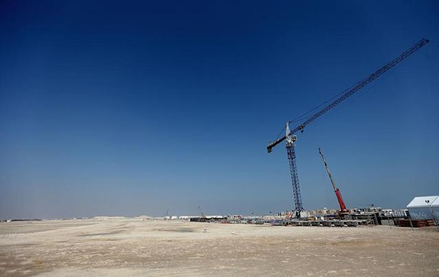 Construction for the Lusail Stadium which will host the 2022 World Cup final is underway...