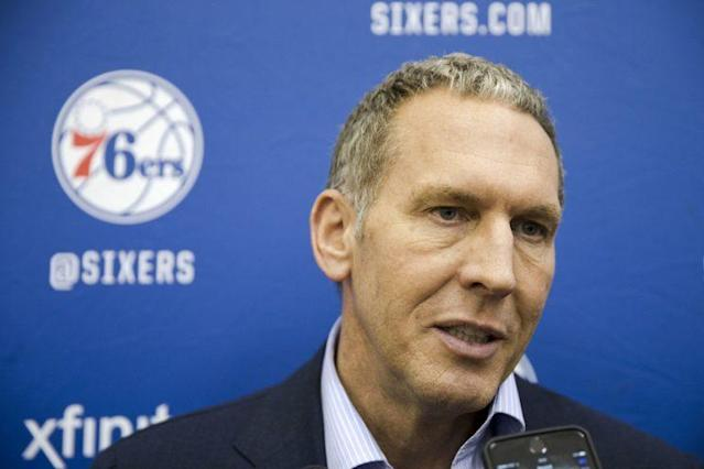 It will be Bryan Colangelo's first trade deadline with the 76ers. (AP)