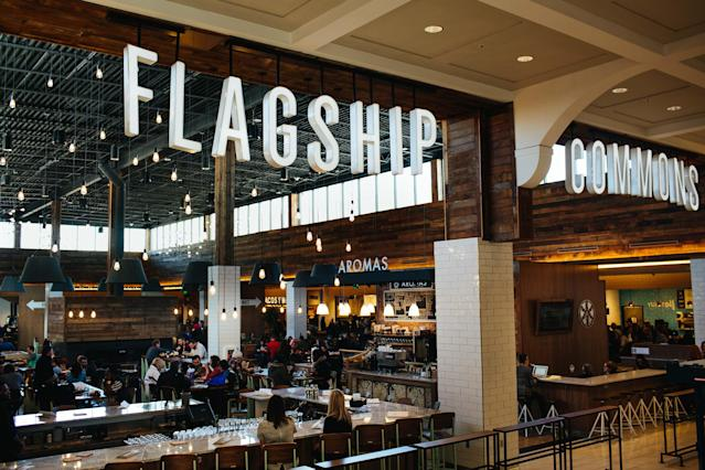 GGP Inc.'s first food hall, Flagship Commons, at the Westroads Mall in Omaha, Neb.
