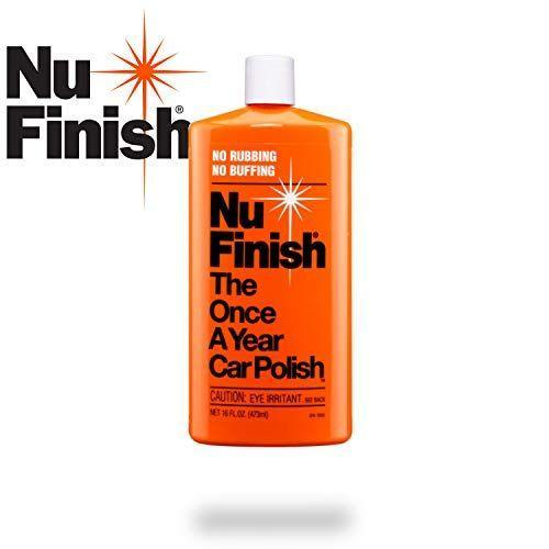"""<p><strong>Nu Finish</strong></p><p>amazon.com</p><p><strong>$12.99</strong></p><p><a href=""""https://www.amazon.com/dp/B000BPSW7C?tag=syn-yahoo-20&ascsubtag=%5Bartid%7C10060.g.36996580%5Bsrc%7Cyahoo-us"""" rel=""""nofollow noopener"""" target=""""_blank"""" data-ylk=""""slk:Shop Now"""" class=""""link rapid-noclick-resp"""">Shop Now</a></p><p>More of a protectant than a heavy cutting scratch remover, the manufacturer states it doesn't require any rubbing or buffing to apply. With that in mind, it would be best paired with a coarser compound on anything but the freshest paint. </p><p>Nu Finish claims the product seals and protects the clear coat for up to a year after application, and can also be used to add extra shine to fiberglass and chrome.</p>"""