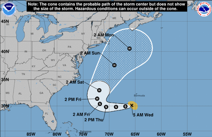 Tropical Storm Henri could turn into a Category 1 hurricane this weekend.