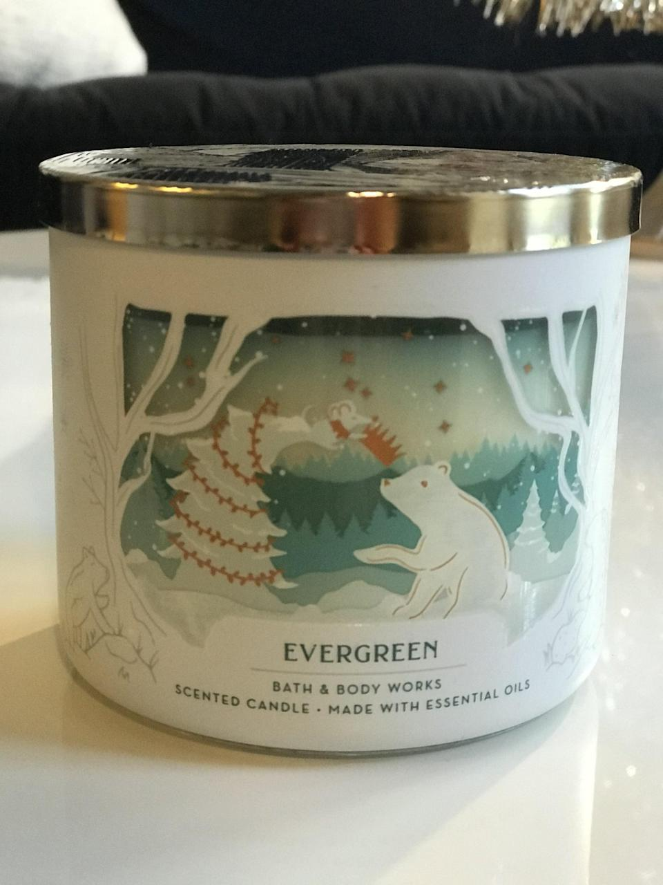 <p><span>Evergreen 3-Wick Candle</span> ($15, originally $25)</p> <p><strong>What It Smells Like:</strong> White fir and cedarwood trees - so lush.</p>