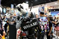 <p>Cosplayer dressed as Deadpool at Comic-Con International on July 20 in San Diego. (Photo: Angela Kim/Yahoo Entertainment) </p>