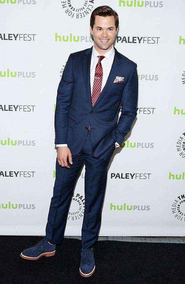 "Andrew Rannells attends the 30th annual PaleyFest featuring the cast of ""The New Normal"" at the Saban Theatre on March 6, 2013 in Beverly Hills, California."