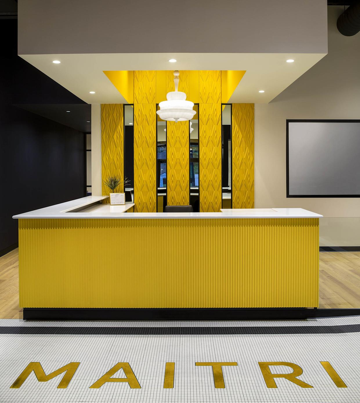 "<h1 class=""title"">HARRY WINSTON 200 POST ST, SAN FRANCISICO</h1> <div class=""caption""> The reception desk at Maitri Medicinals in Pennsylvania, another High Road Studio project. </div> <cite class=""credit"">Photo: Richard Cadan</cite>"