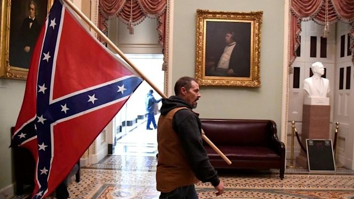Trump supporters inside Capitol building