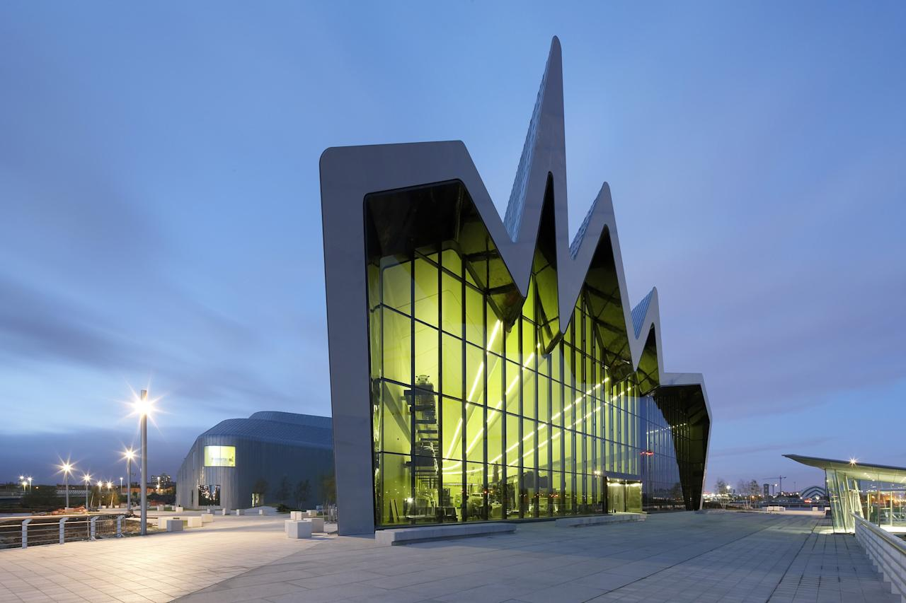 Located in Scotland, Glasgow Riverside Museum by Zaha Hadid Architects was completed in 2011. The building cost roughly $95 million to complete, and it went on to win the 2013 European Museum of the Year Award.