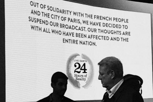 Paris Attacks: Al Gore Pulls Plug on Eiffel Tower Climate Telethon After 5 Hours