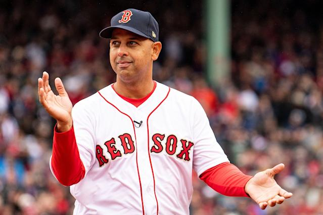 """<a class=""""link rapid-noclick-resp"""" href=""""/mlb/teams/boston/"""" data-ylk=""""slk:Red Sox"""">Red Sox</a> manager Alex Cora will not visit the White House to celebrate the team's 2018 World Series title. (Getty Images)"""