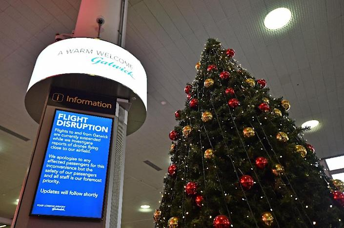 Drone sightings caused major disruptions at London's Gatwick Airport just before the Christmas holiday last year (AFP Photo/Glyn KIRK )