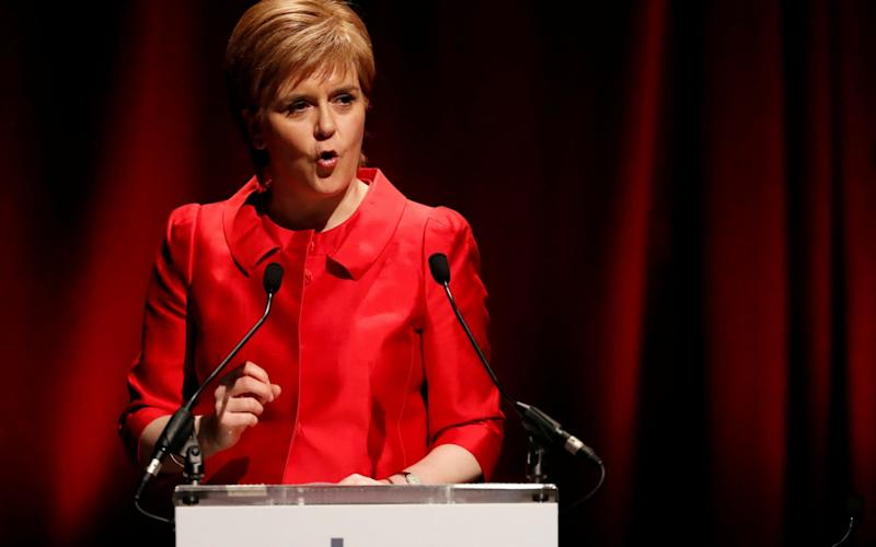 Scotland's First minister Nicola Sturgeon attends the STUC conference in Aviemore - Credit: Reuters