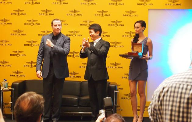 John Travolta at the Breitling launch (Yahoo! Photos / Elizabeth Soh)