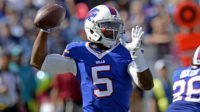 """Tyrod Taylor is expected to take over for the Chargers in Week 1. <span class=""""copyright"""">(Mark Zaleski / Associated Press)</span>"""