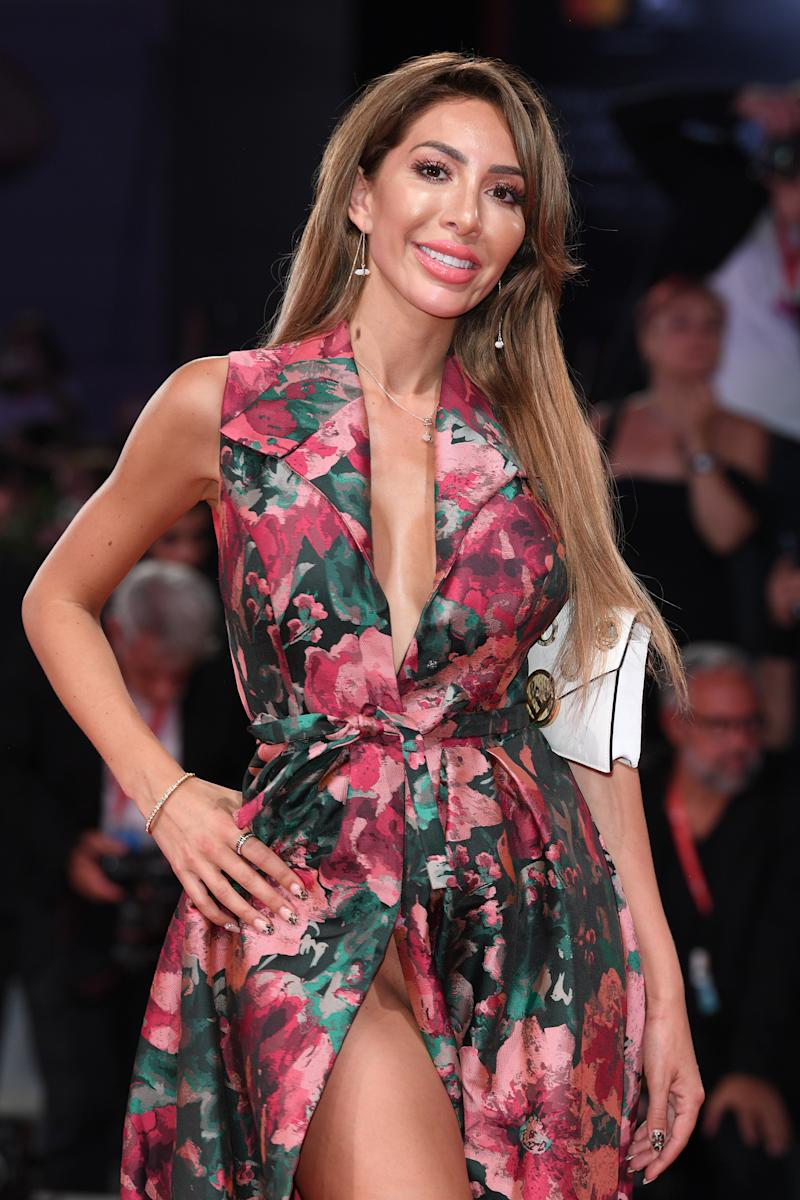 Teen Mom star Farrah Abraham's wardrobe malfunction at Venice Film Festival 2019