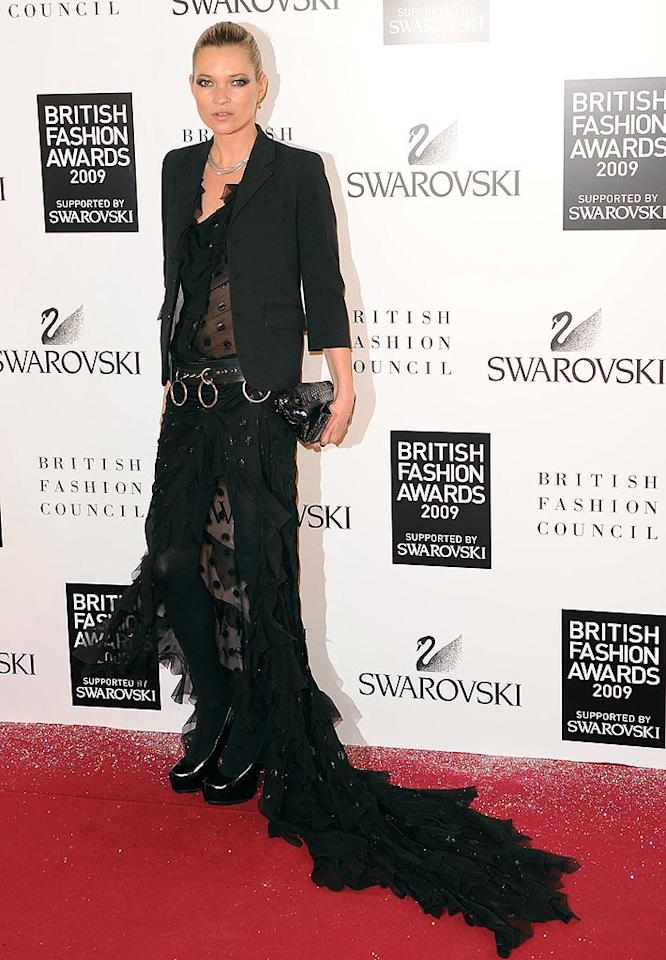 "Dear Kate Moss, Elvira called and she wants her Halloween costume back. Eamonn McCormack/<a href=""http://www.wireimage.com"" target=""new"">WireImage.com</a> - December 9, 2009"