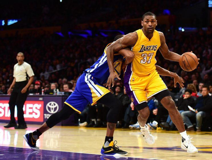 Metta World Peace has been a positive influence on the young Lakers. (Getty Images)