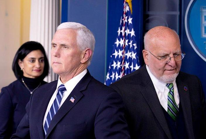 Mike Pence; Robert Redfield