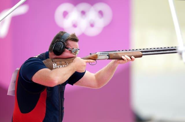Matt Coward-Holley claimed bronze on day six in the men's trap