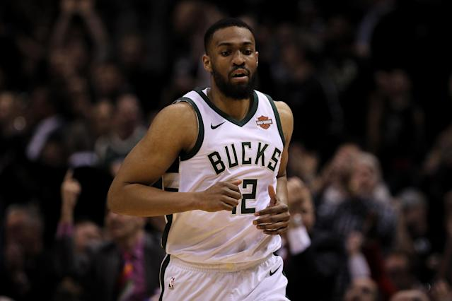 MILWAUKEE, WI - APRIL 26: Jabari Parker #12 of the Milwaukee Bucks runs across the court in the first quarter against the Boston Celtics during Game Six of Round One of the 2018 NBA Playoffs at the Bradley Center on April 26, 2018 in Milwaukee, Wisconsin. (Photo by Dylan Buell/Getty Images)