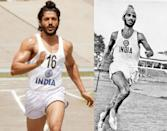 Farhan Akhtar had to train very hard to portray the mighty Milkha Singh in 'Bhaag Milkha Bhaag'. Fun fact: Athlete Milkha Singh, on whose life the film is based, charged Rs 1 only for his contribution to the film. He provided the minute details of his life to Rakeysh Omprakash Mehra and his team so that they could come up with a nuanced screenplay.