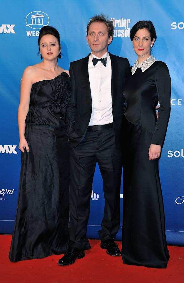 BERLIN, GERMANY - FEBRUARY 13:  (L-R) Vanesa Glodjo, Goran Kostic and Zana Marjanovic attend the Cinema for Peace Gala at the Konzerthaus Am Gendarmenmarkt during day five of the 62nd Berlin International Film Festival  on February 13, 2012 in Berlin, Germany.  (Photo by Pascal Le Segretain/Getty Images for Cinema For Peace)